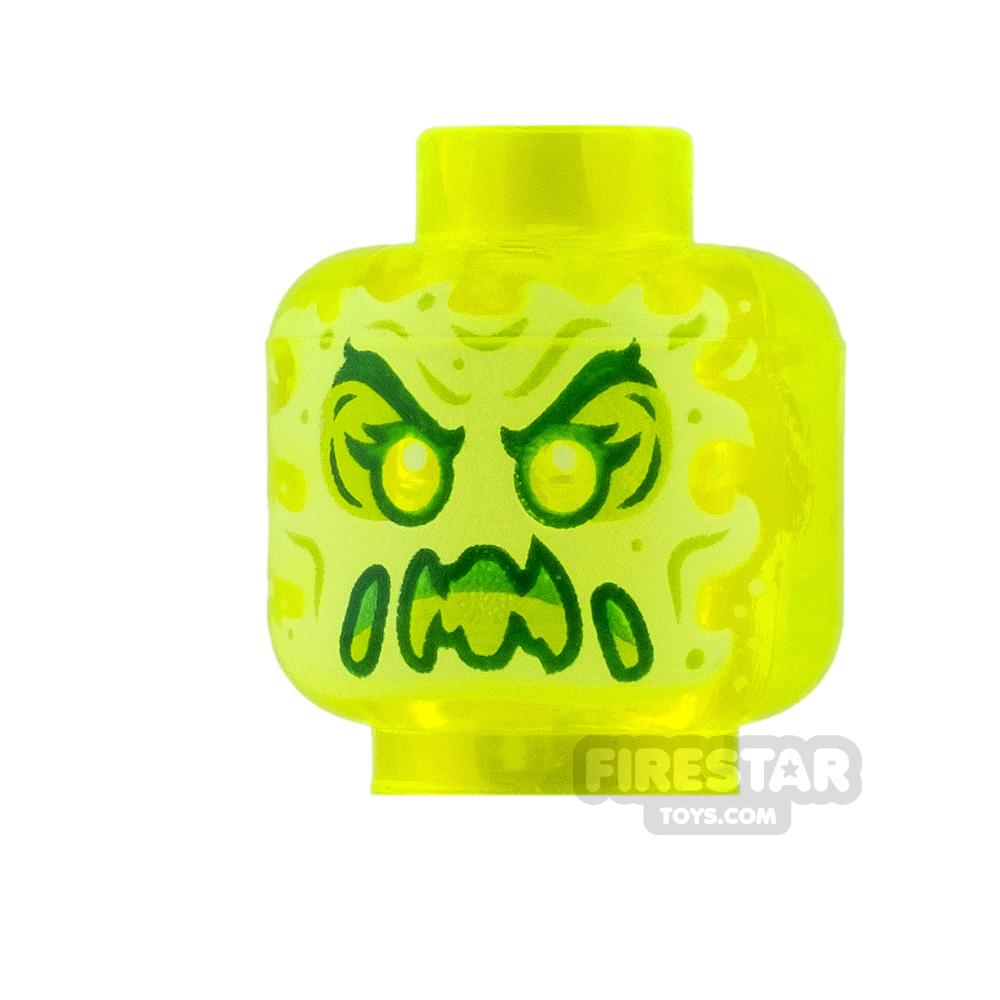 LEGO Mini Figure Heads Slime Ghost with Raised Eyebrows
