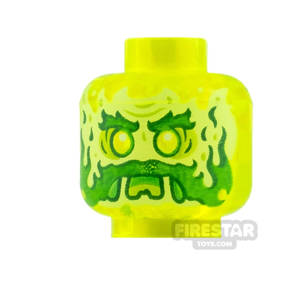 LEGO Mini Figure Heads Slime Ghost with Beard