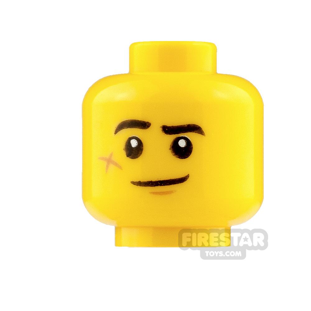 LEGO Mini Figure Heads Lopsided Smile and Scared