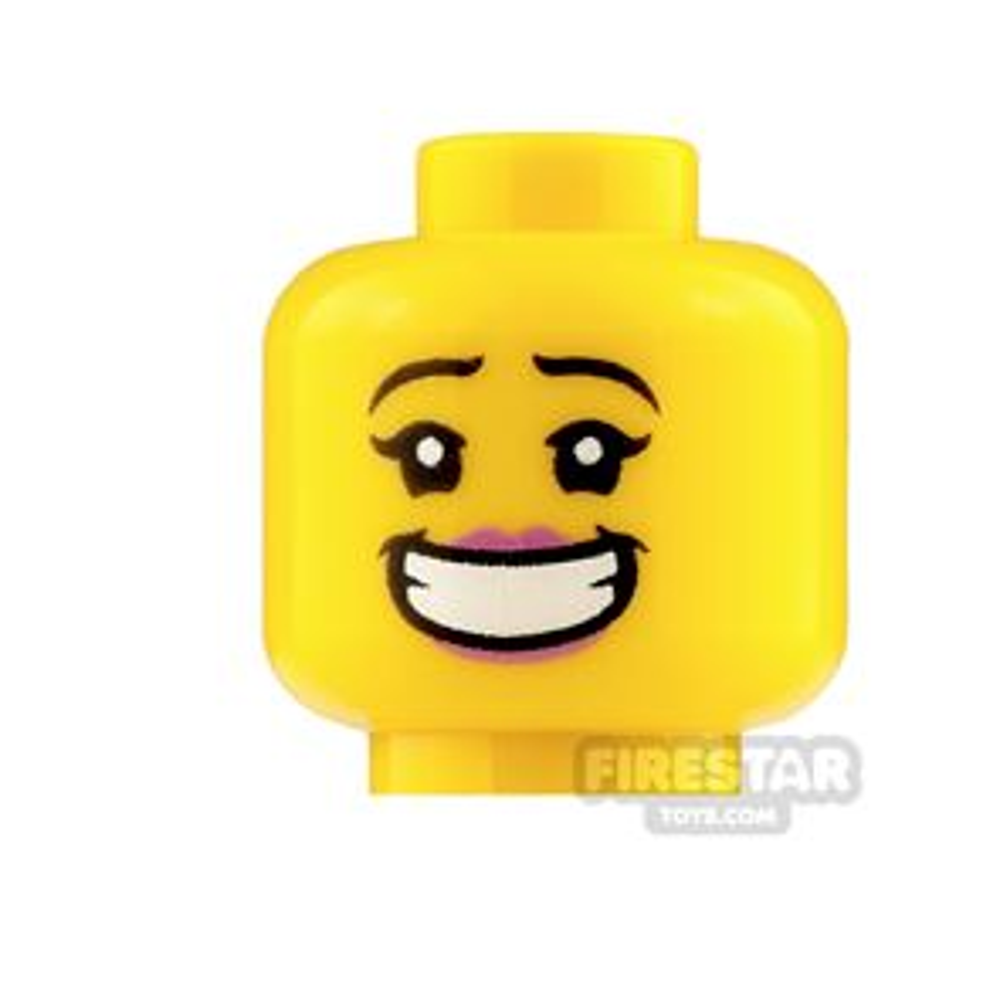 LEGO Mini Figure Heads Big Smile and Angry