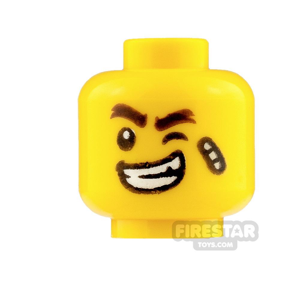 LEGO Mini Figure Heads Bandage Smile and Scared