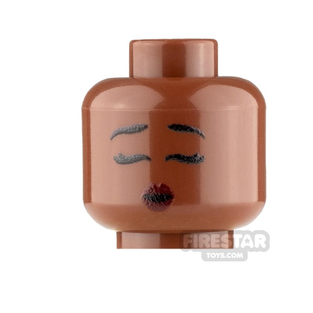 Custom Minifigure Heads Kissy Face