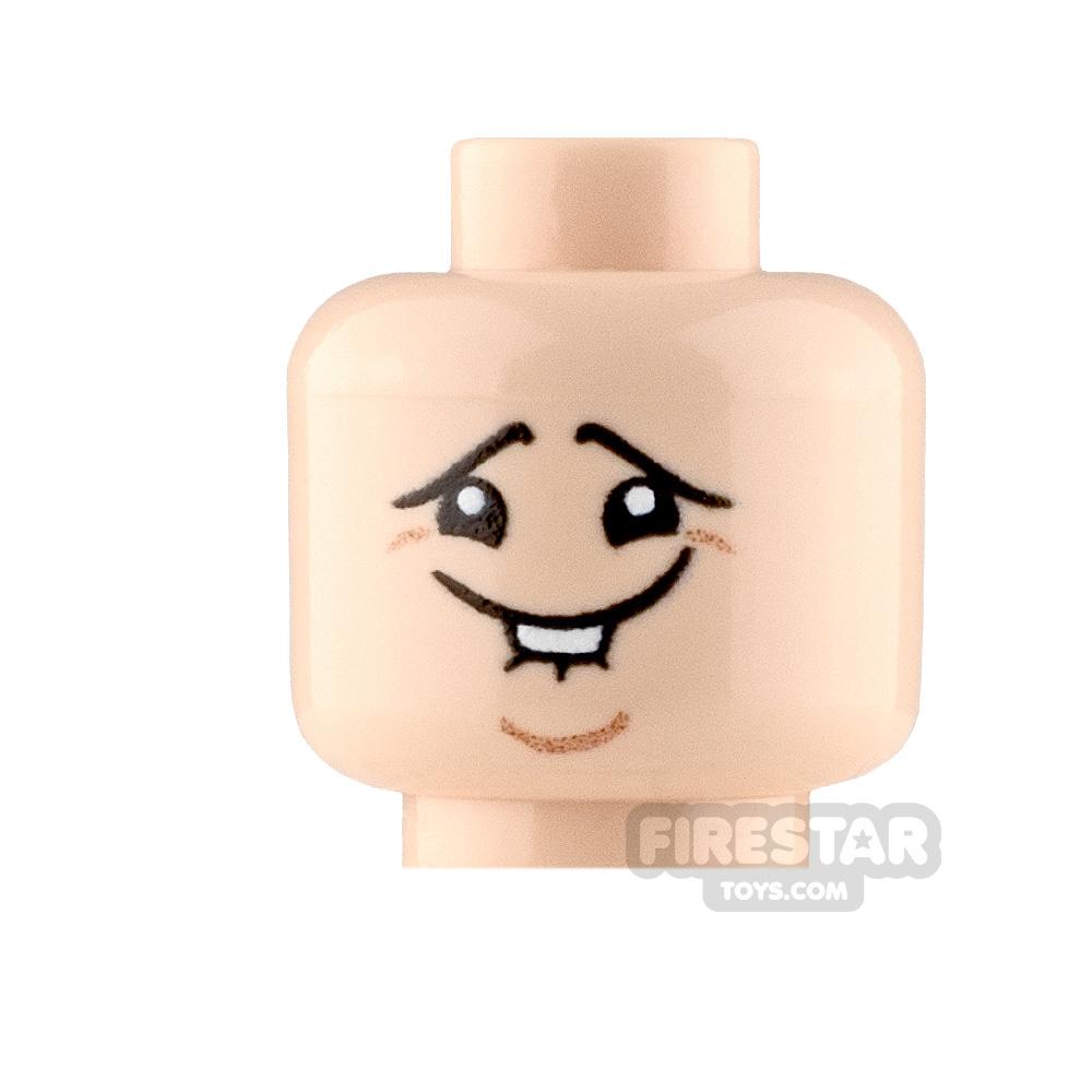 Custom Minifigure Heads Stifled Laugh Male