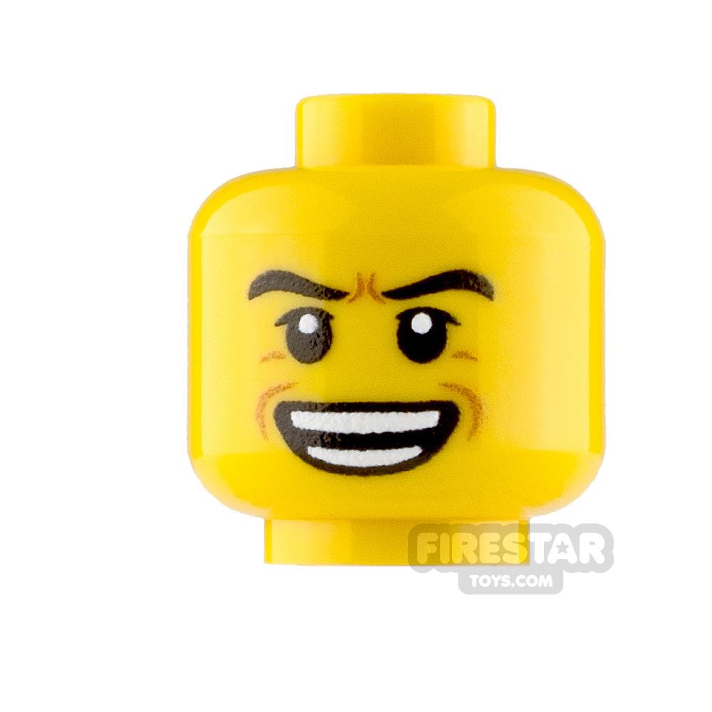 Custom Minifigure Heads Cackling Male