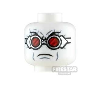 LEGO Minifigure Heads Mr Freeze Red Goggles