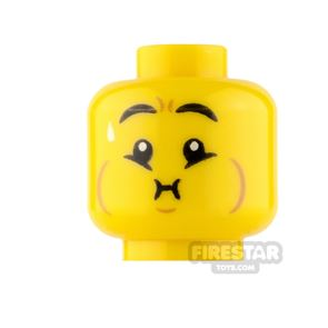 LEGO Minifigure Heads Queasy and Grin