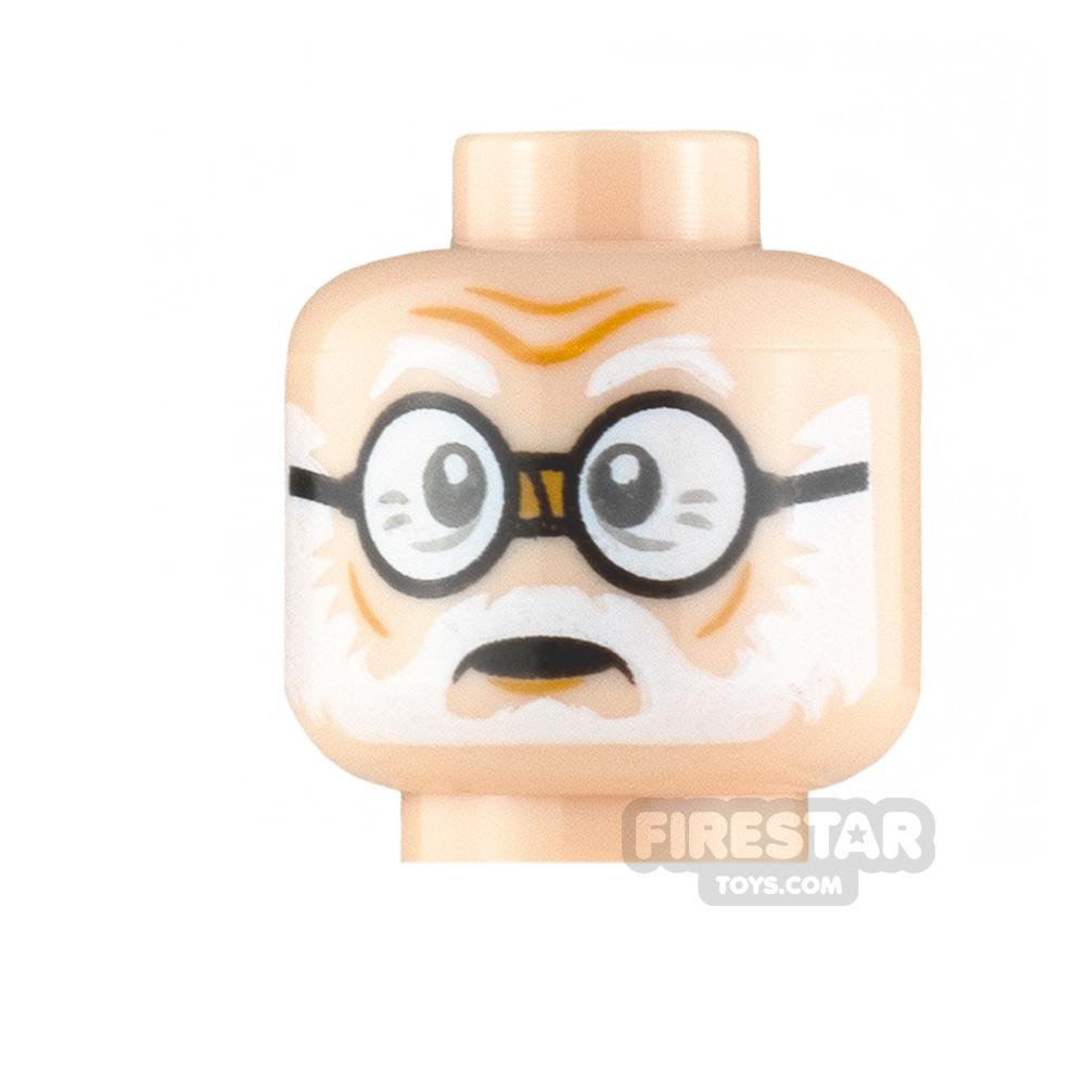 LEGO Minifigure Heads White Beard with Glasses