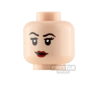 LEGO Minifigure Heads Dark Red Lips Smile and Scowl