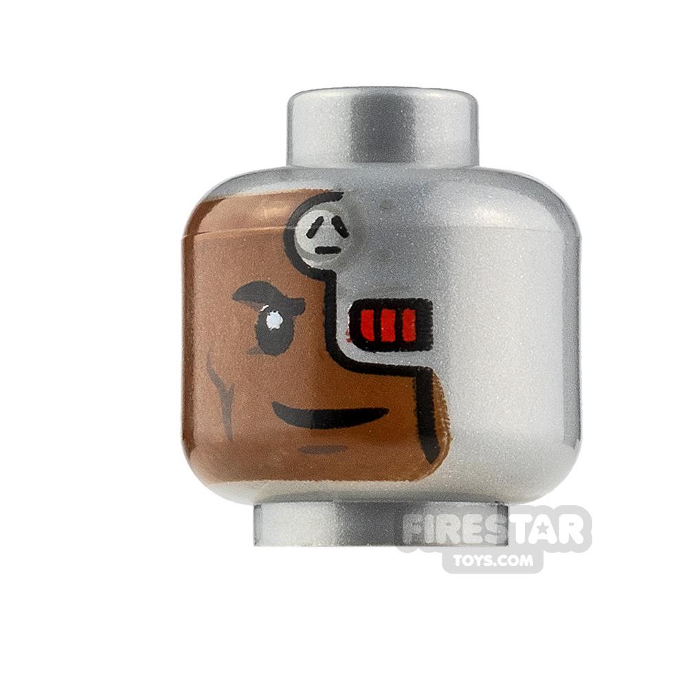 LEGO Minifigure Heads Cyborg with Red Eye