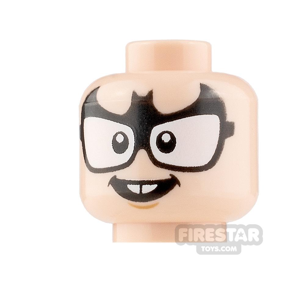 LEGO Minifigure Heads Bat Glasses and Buck Teeth
