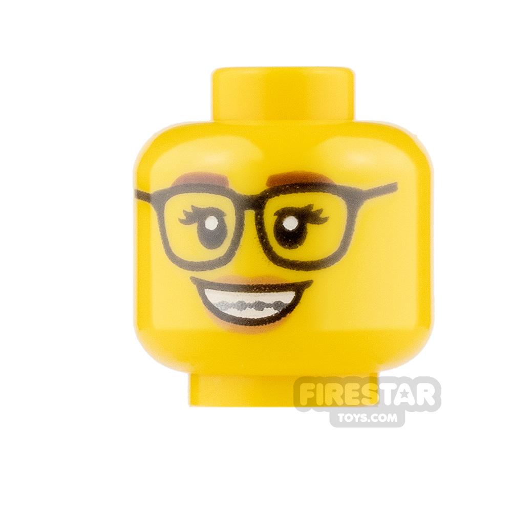 LEGO Minifigure Heads Glasses and Braces