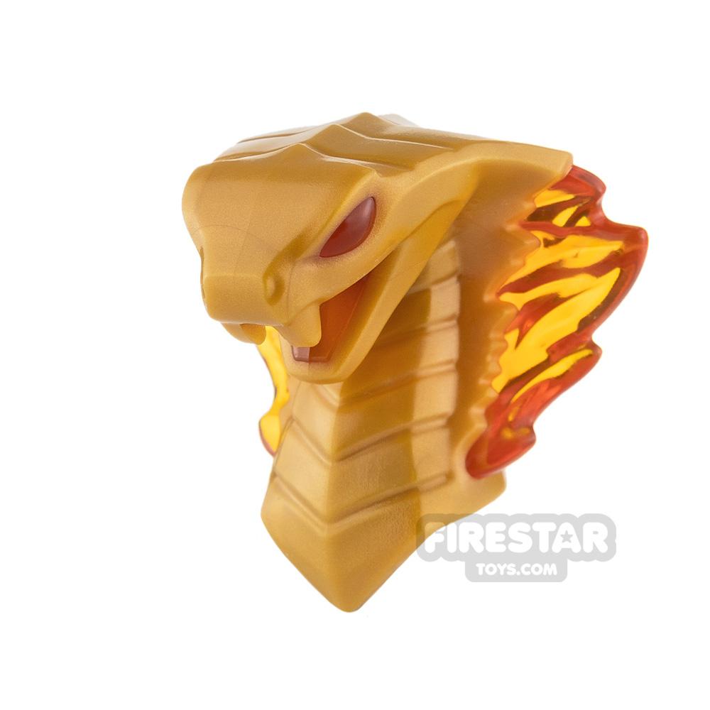 LEGO Minifigure Head Cobra with Flames