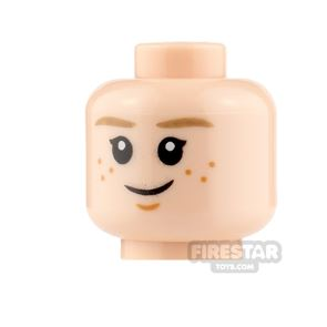 LEGO Minifigure Heads Freckles Smile and Asleep