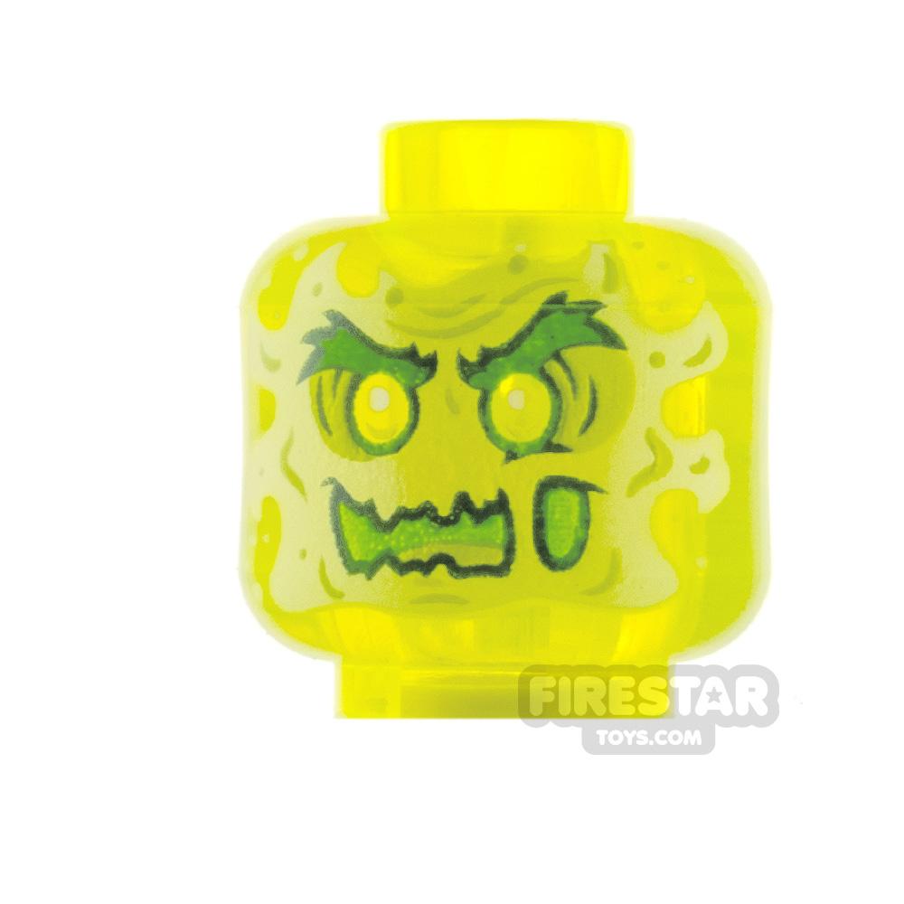 LEGO Minifigure Heads Slime Mouth and Flames