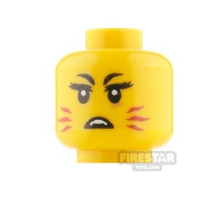 LEGO Minifigure Heads Female With Red Whiskers