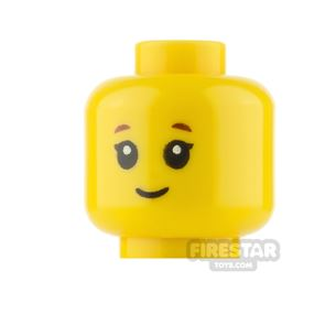 LEGO Minifigure Heads Girl with Grin