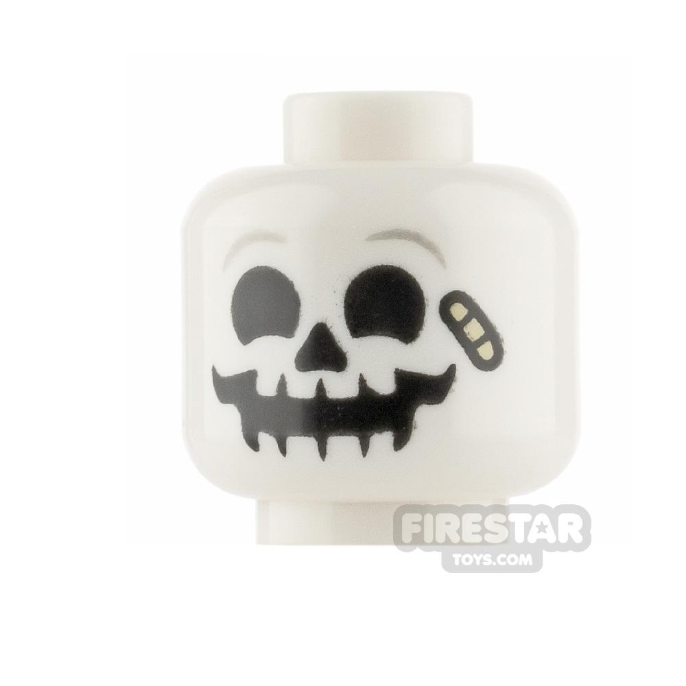 LEGO Minifigure Heads - Skull with Bandage