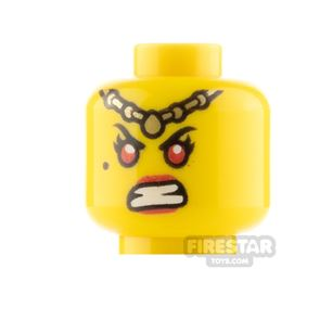 LEGO Minifigure Heads Red Lips Smile and Angry