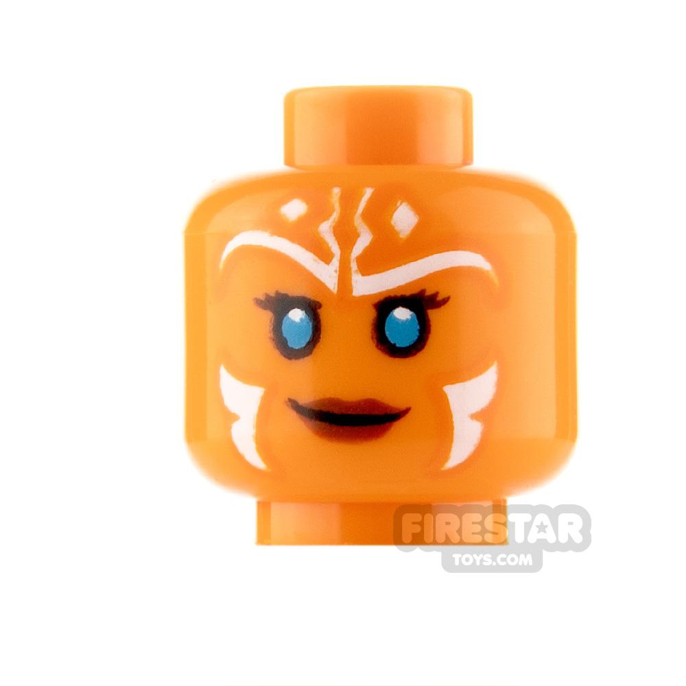 LEGO Minifigure Heads SW Ahsoka Tano Smile and Angry