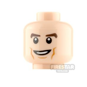 LEGO Minifigure Heads Cheek Lines Smile and Smile with Teeth