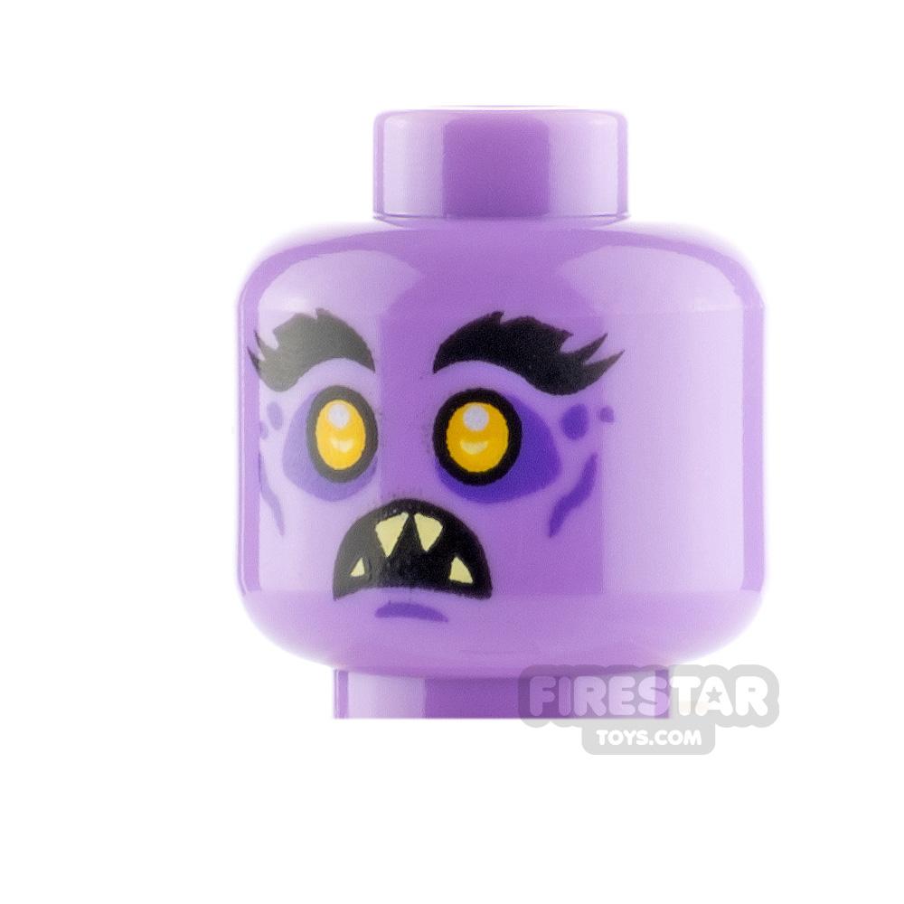 LEGO Mini Figure Heads Bushy Eyebrows Angry and Scared