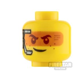 LEGO Minifigure Heads Smile with Headset and Frown