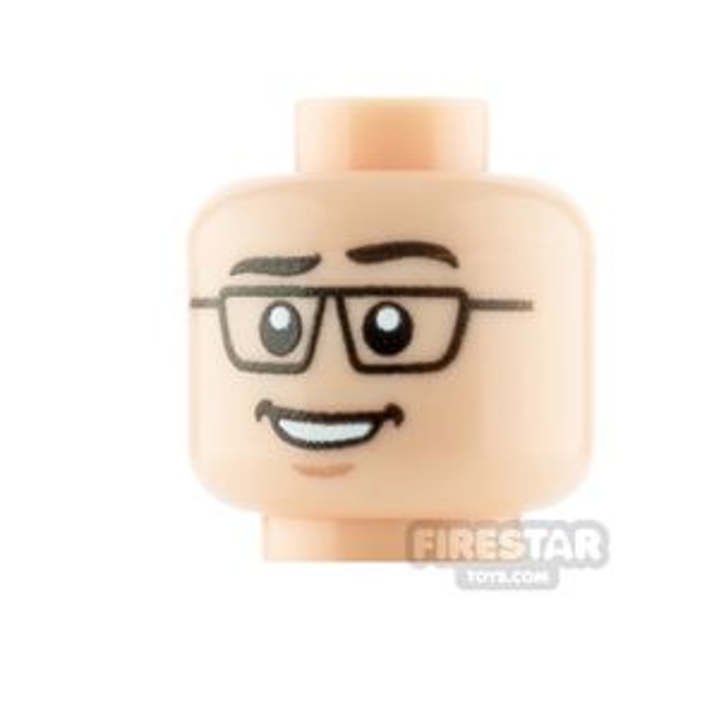 Custom Minifigure Heads Businessman
