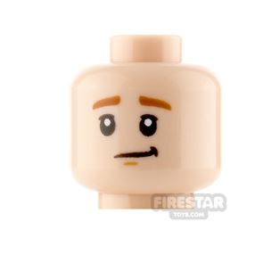 LEGO Minifigure Heads Lopsided Smile and Worried