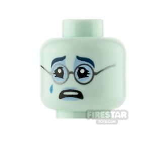 LEGO Minifigure Heads Frown and Crying with Glasses