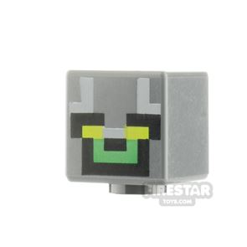 LEGO Minifigure Heads Minecraft Green Eyes