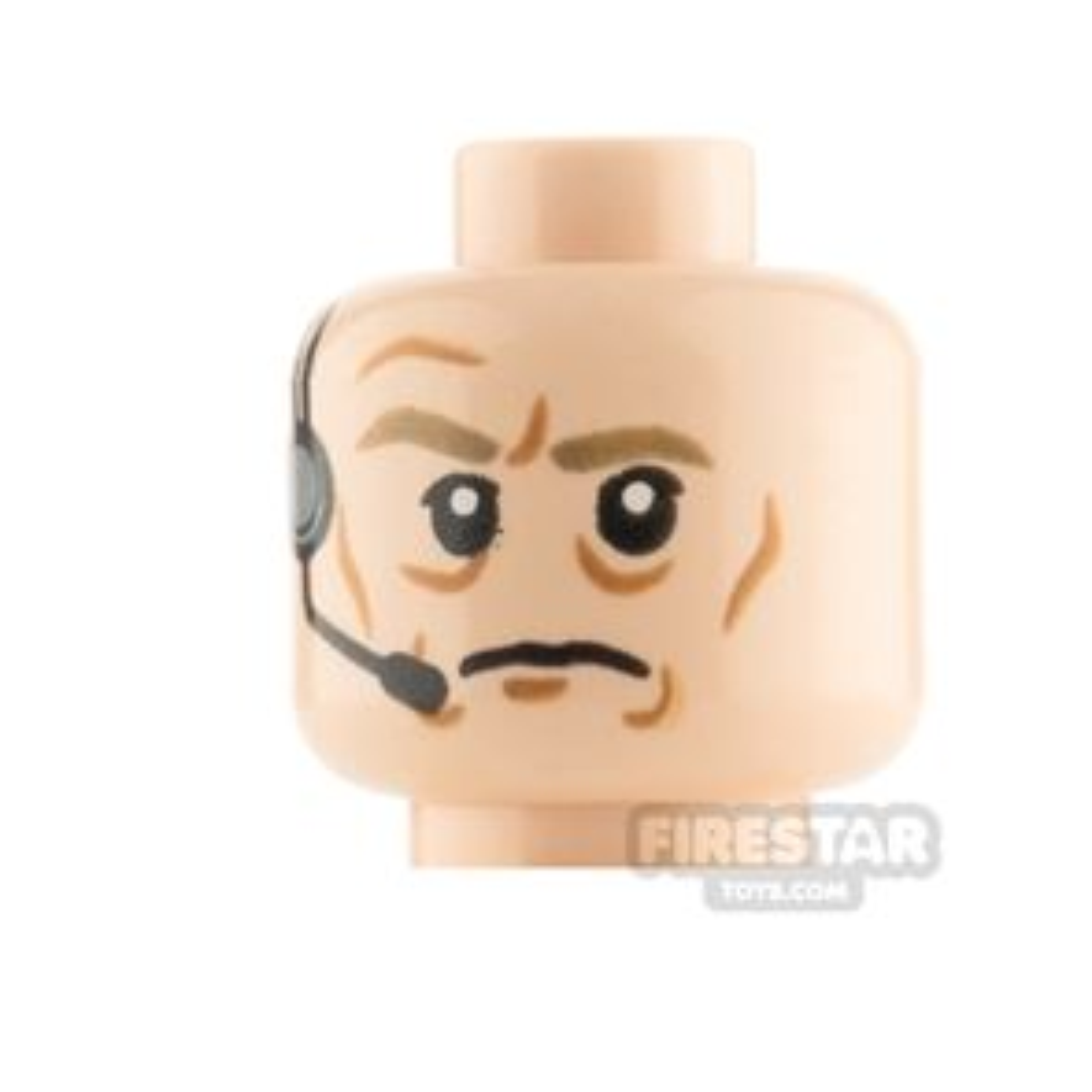 LEGO Minfigure Heads Wrinkles and Headset