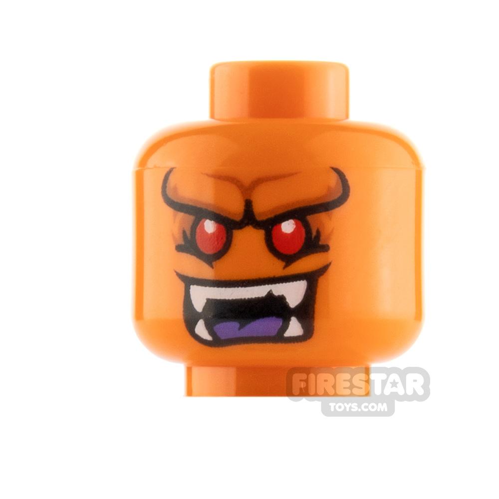 LEGO Minfigure Heads Orange Horn Demon
