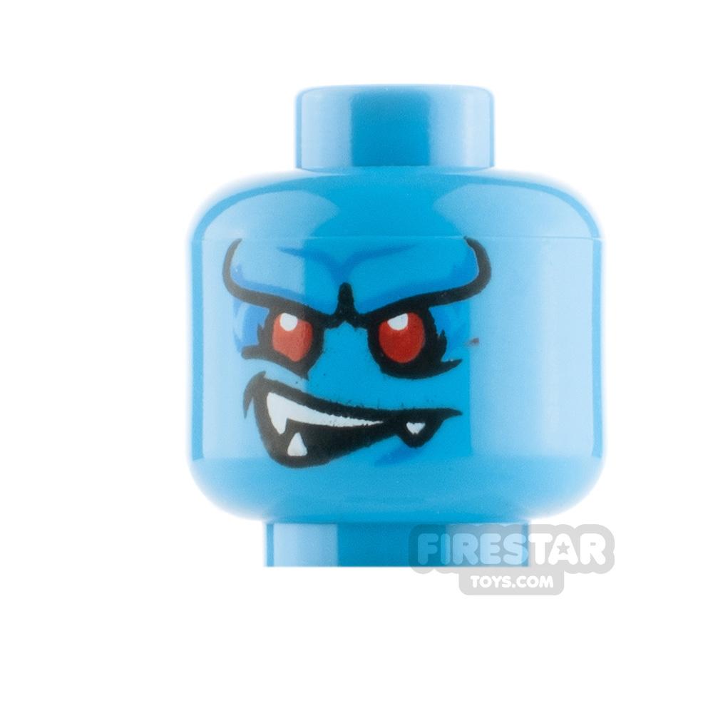 LEGO Minfigure Heads Blue Horn Demon