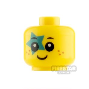 LEGO Minifigure Heads Baby with Freckles and Star