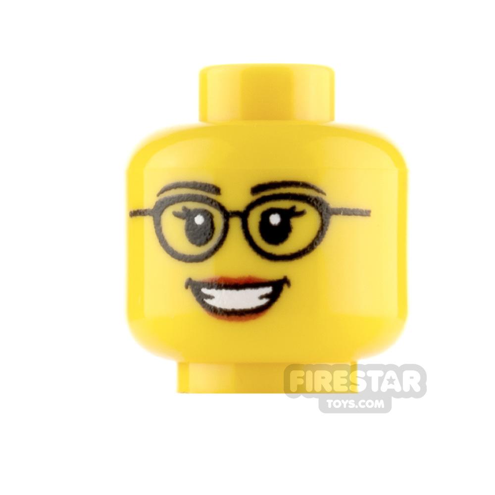 Custom Mini Figure Heads Smile With Glasses Female