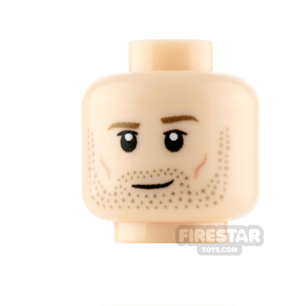 Custom Mini Figure Heads Stubble Smile and Angry