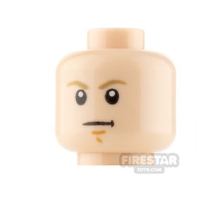 LEGO Minifigure Heads Stern and Scared with Sunken Eye