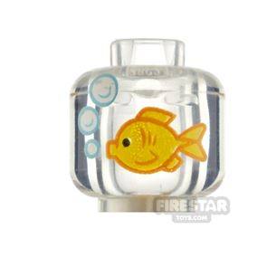 LEGO Minifigure Heads Fish in a Bowl