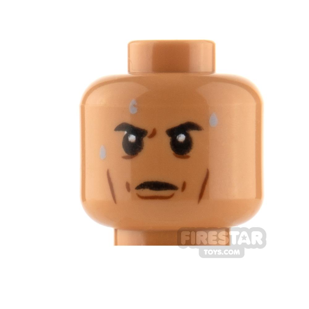 LEGO Minifigure Heads Sweat Drops Calm and Scared