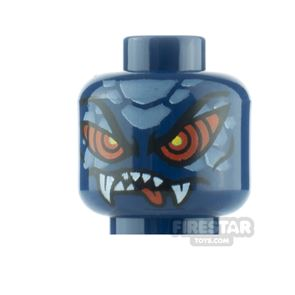 LEGO Minifigure Heads Snake with Red Eyes