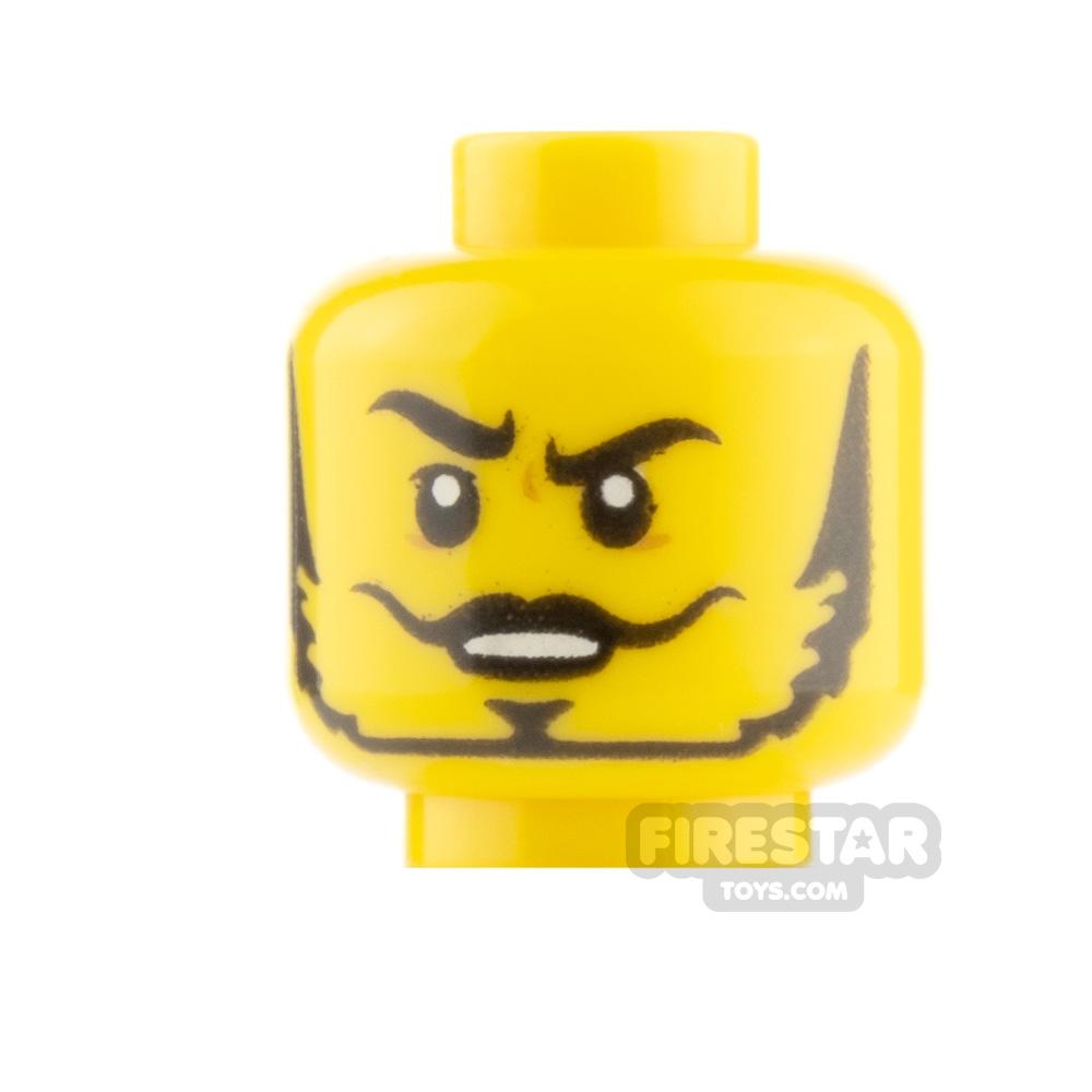 LEGO Minifigure Heads Thin Moustcahe and Beard