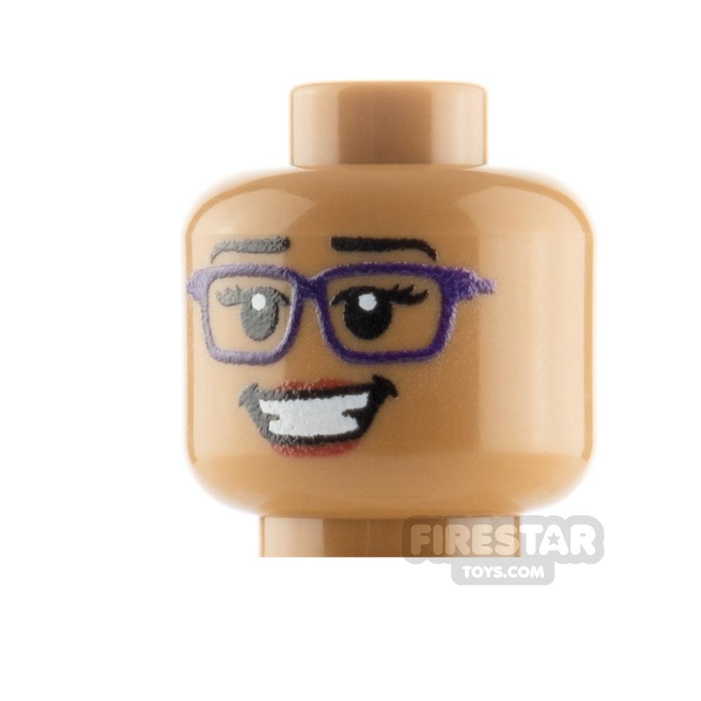 Custom Minifigure Heads Female Hipster
