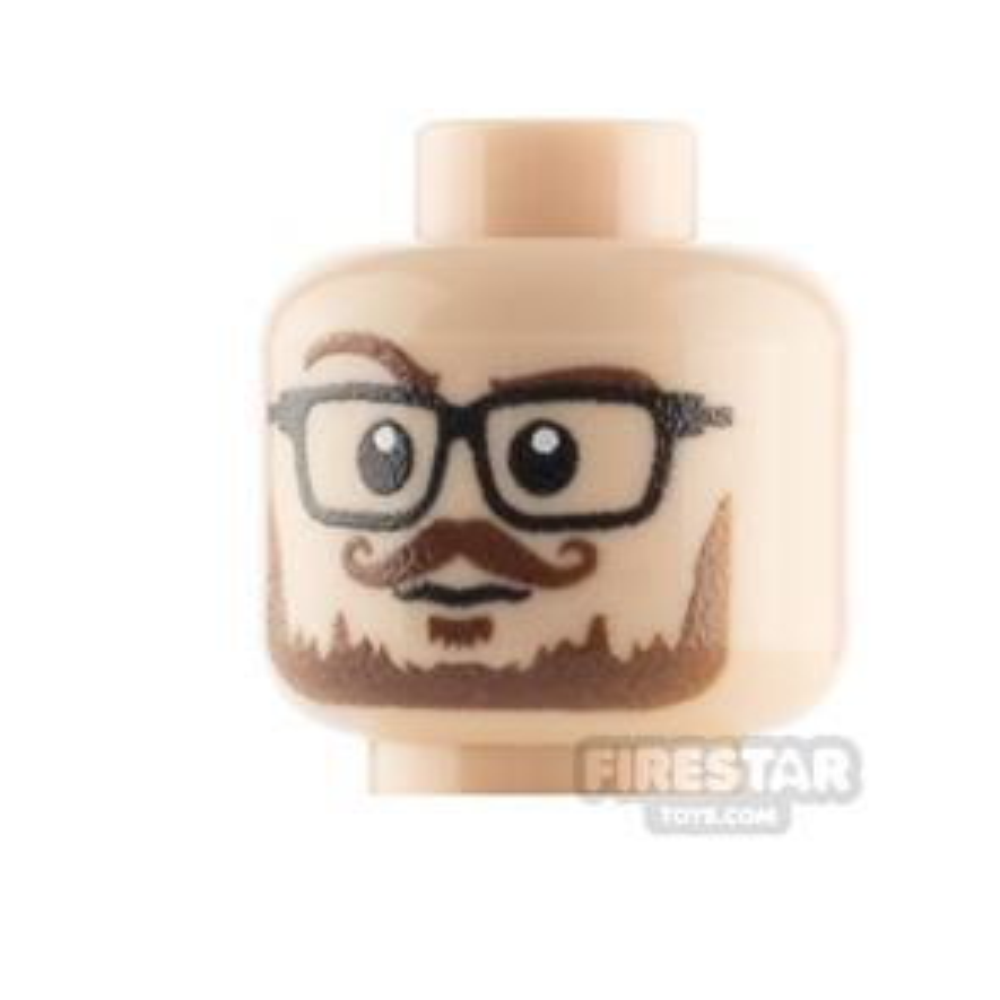 Custom Minifigure Heads Male Hipster