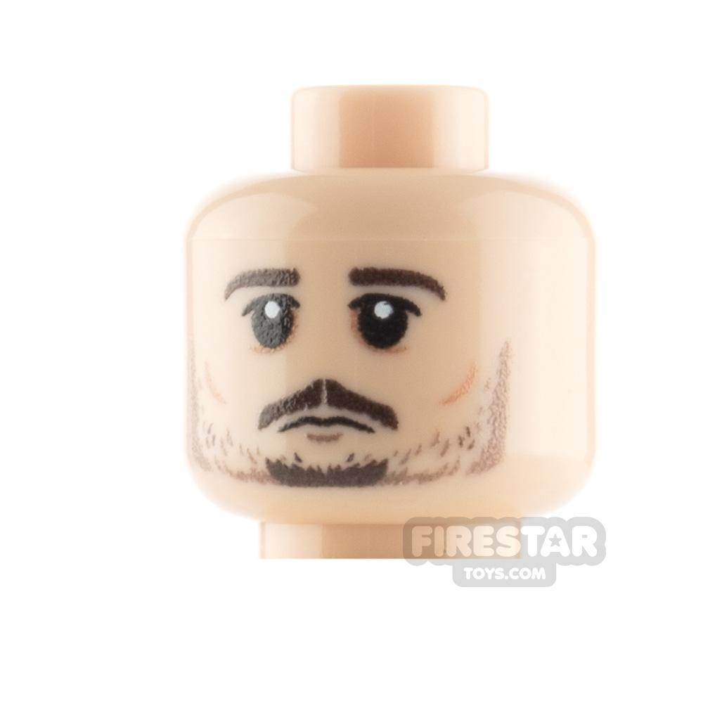 Custom Minifigure Heads Beard Serious and Bloody