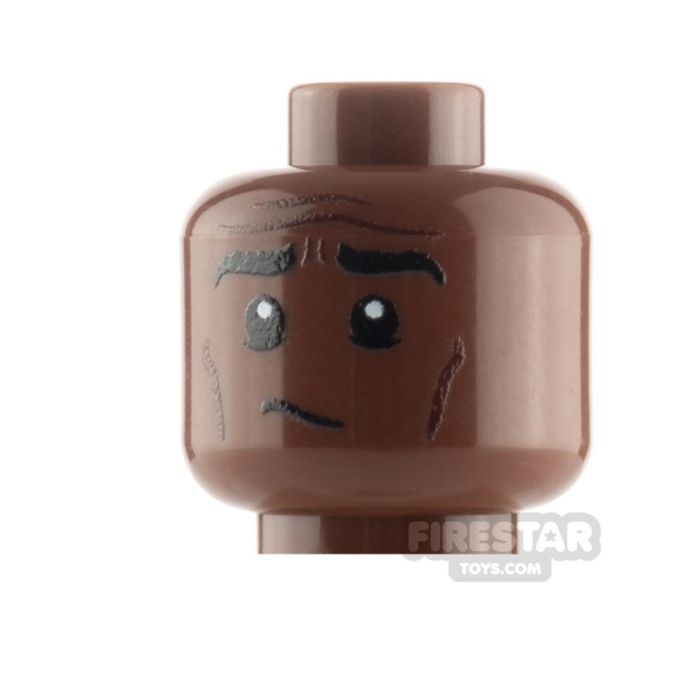 Custom Minifigure Heads Concerned Male
