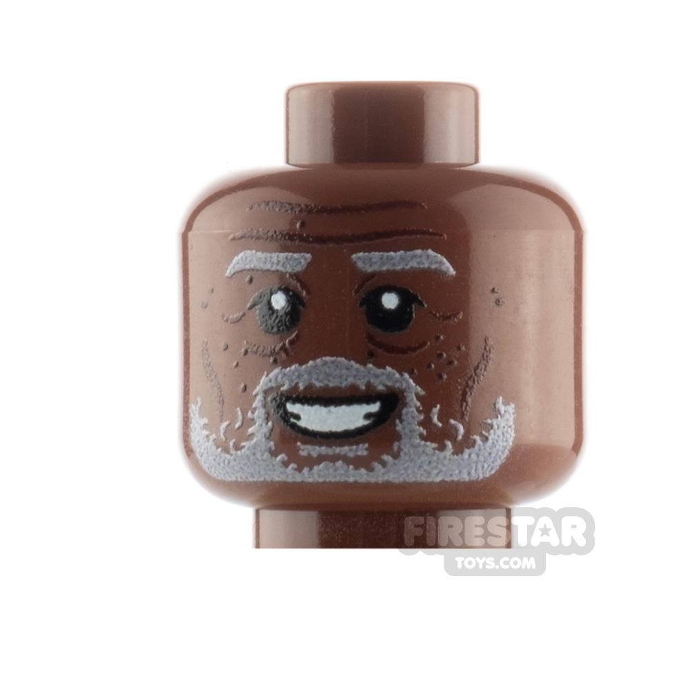 Custom Minifigure Heads Elderly Man with Beard