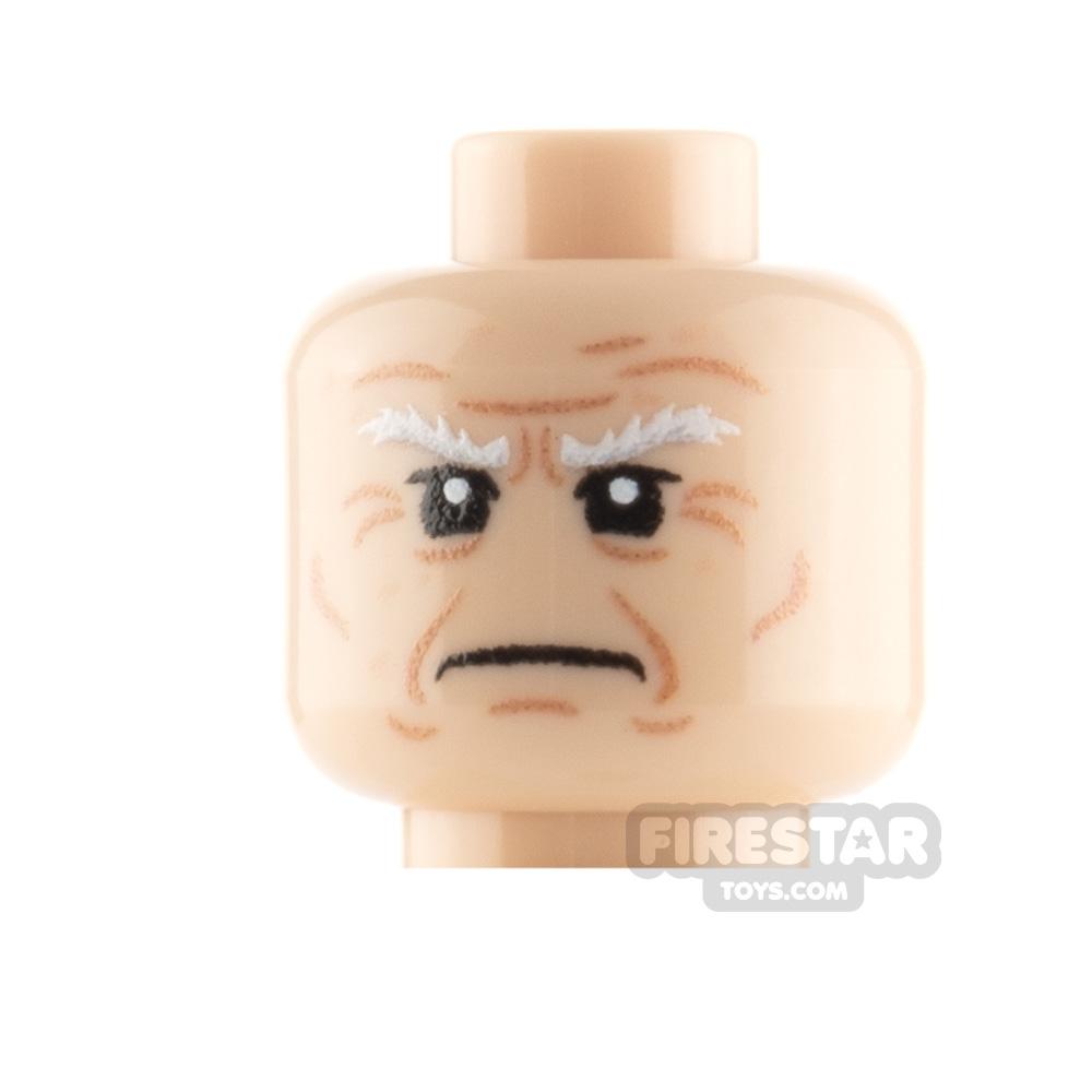 Custom Minifigure Heads Elderly Man Grumpy