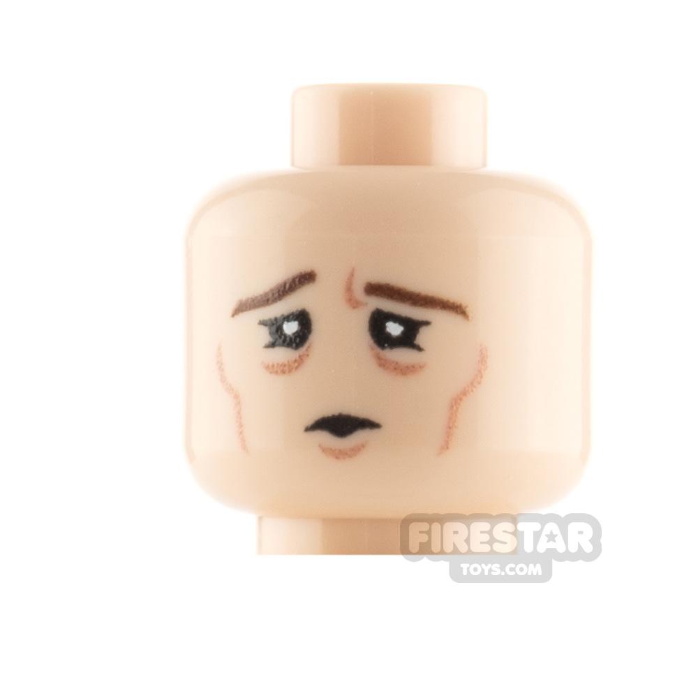 Custom Minifigure Heads Tired Male