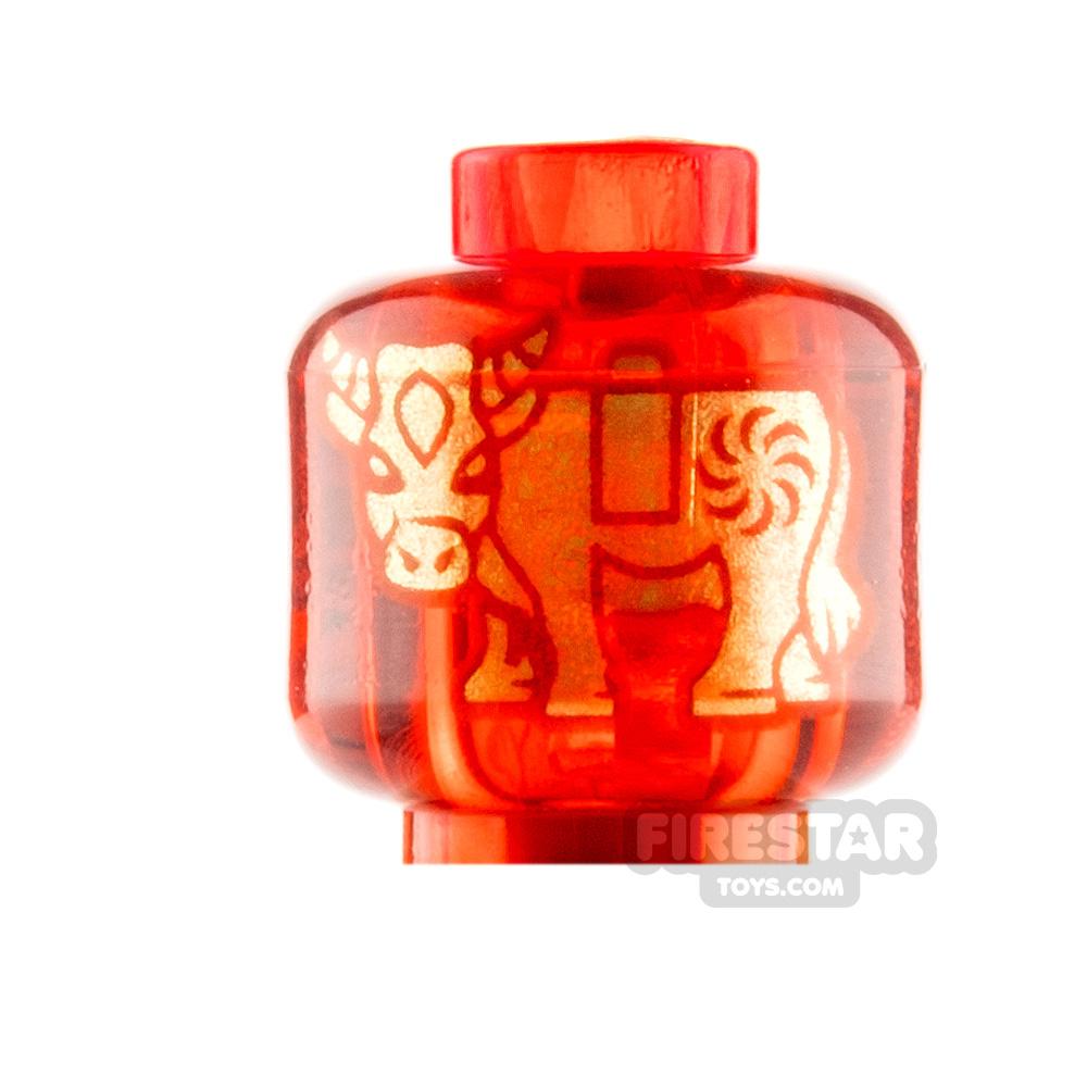 LEGO Minifigure Heads Gold Ox