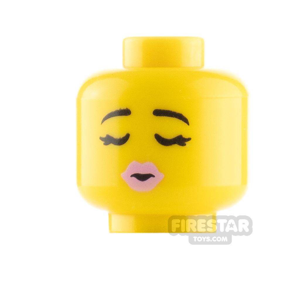 LEGO Minifigure Heads Heart Shaped Sunglasses and Kiss